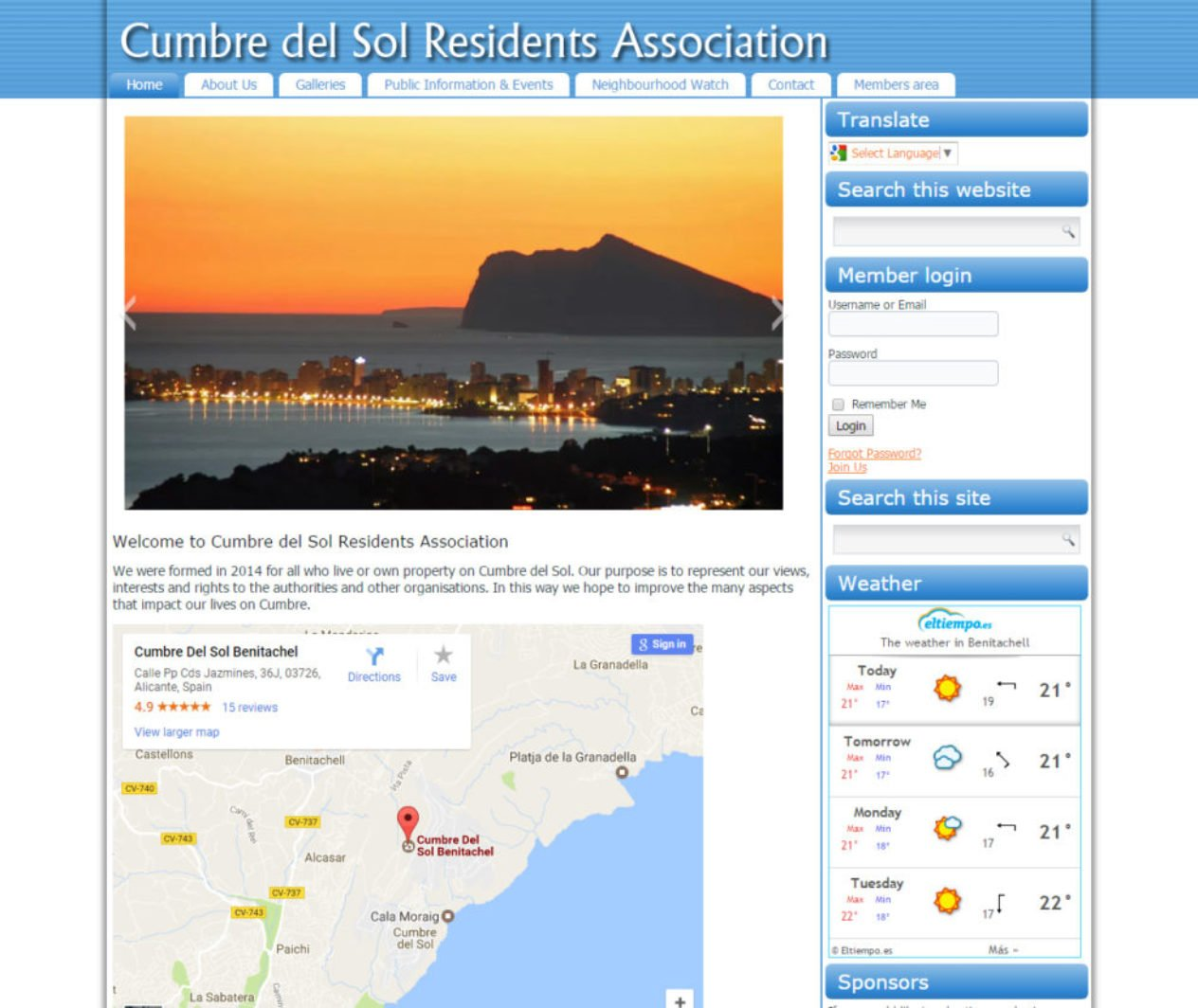 Cumbre del Sol Residents Association