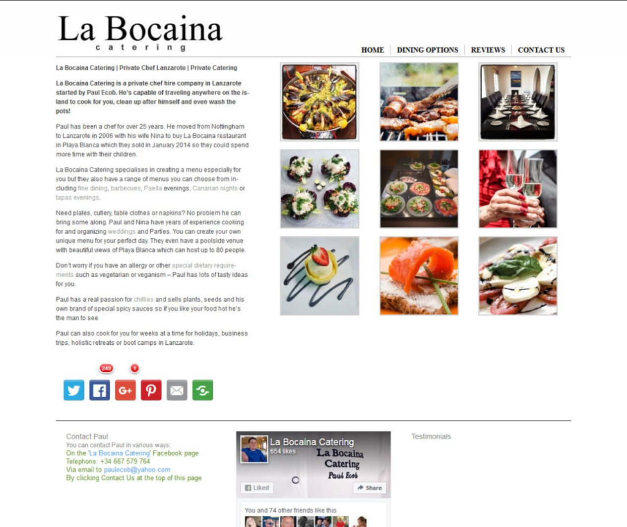 La Bocaina Catering