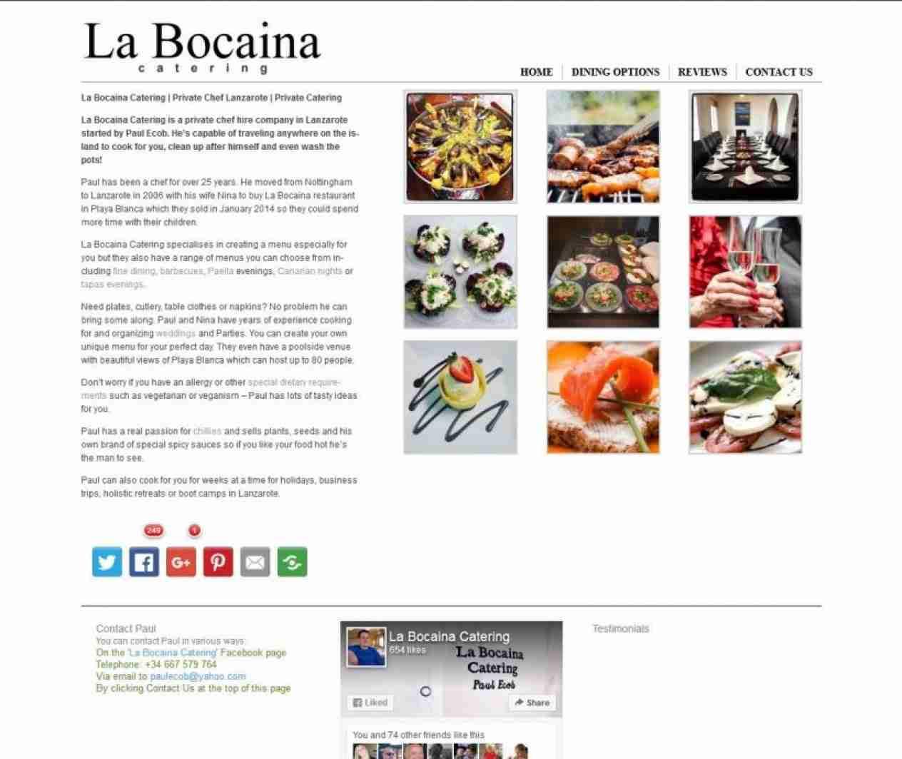 La Bocaina Catering