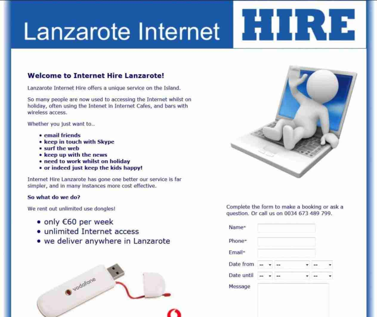 Lanzarote Internet Hire