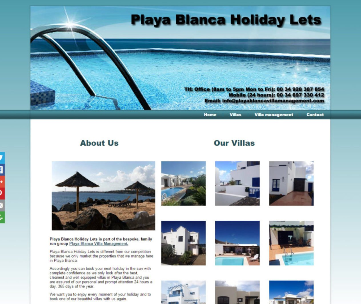 Playa Blanca Holiday Lets