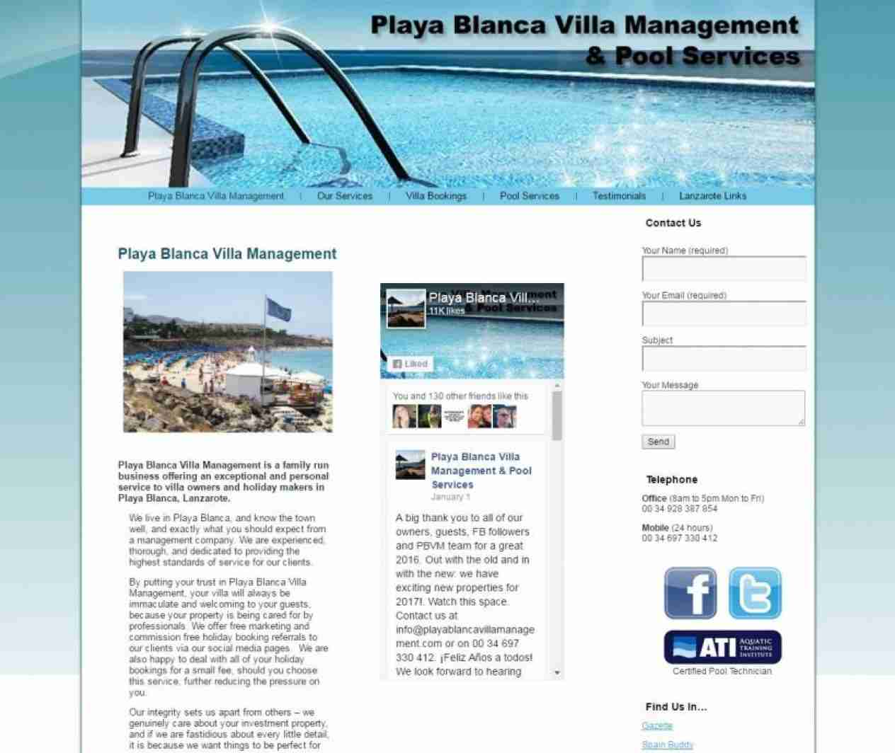 Playa Blanca Villa Management