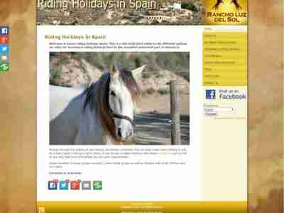 Riding Holidays in Spain