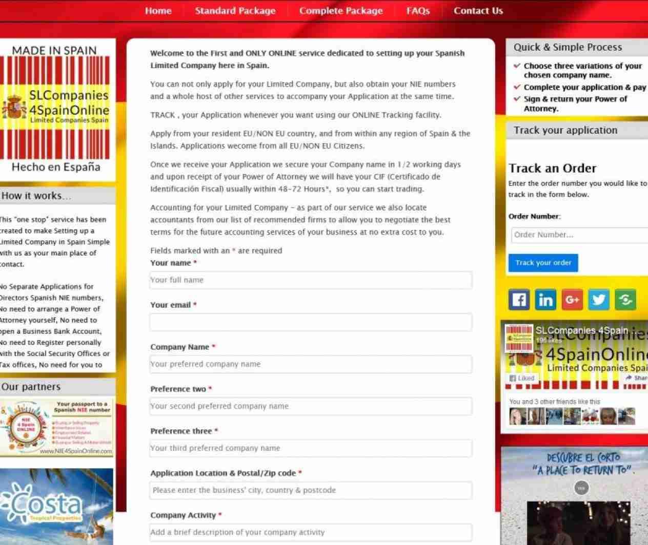 SL Companies 4 Spain Online