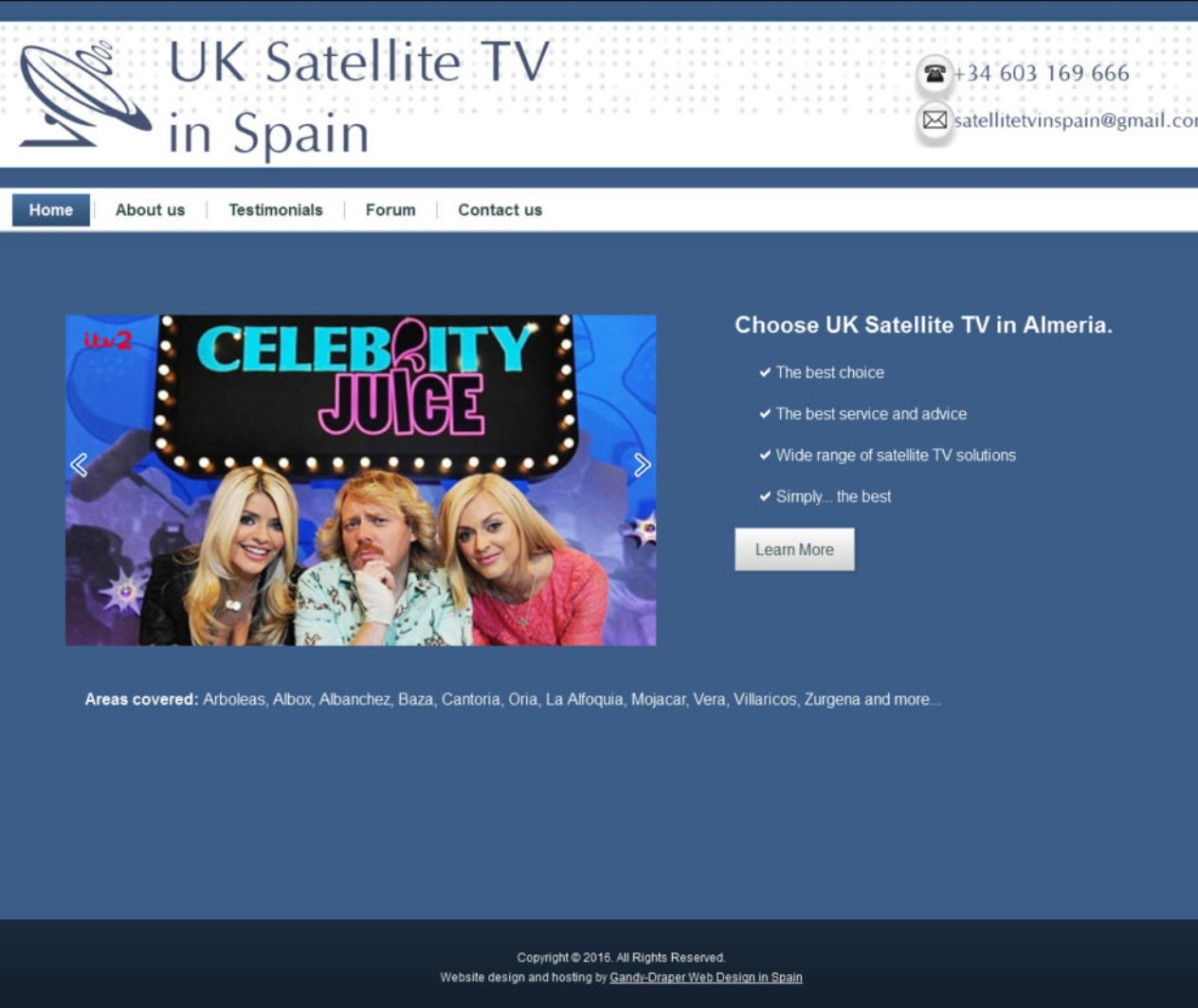 UK Satellite TV in Spain