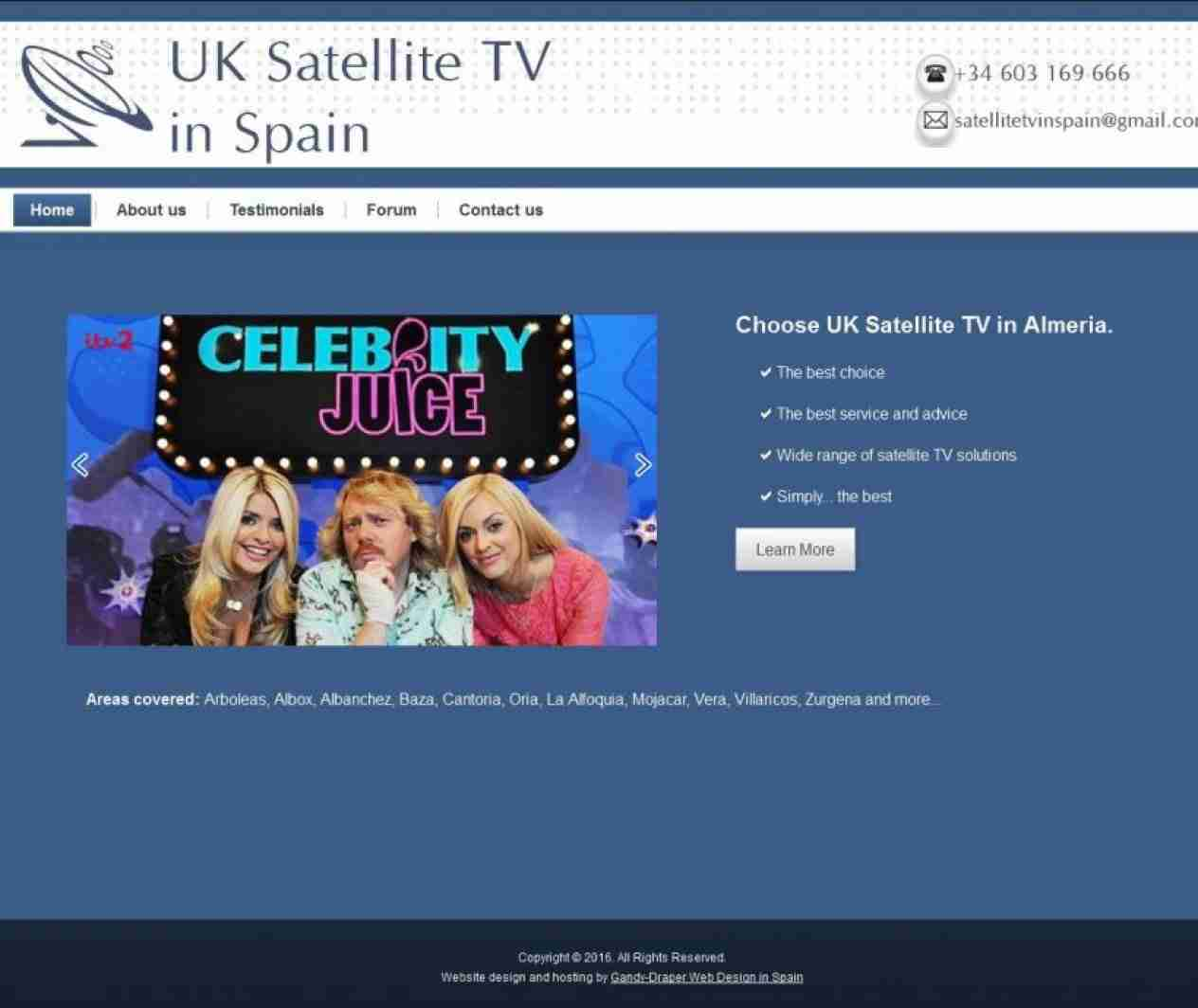 UK Satellite TV in Spain