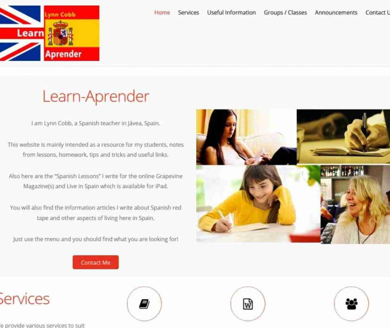 Learn-Aprender screen