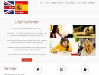 Learn-Aprender screen