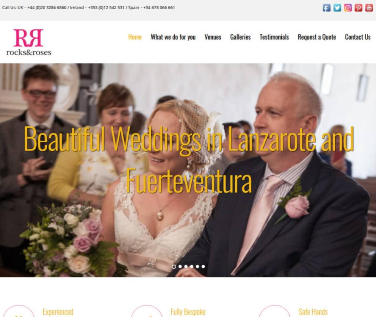 Rocks and Roses Weddings screengrab