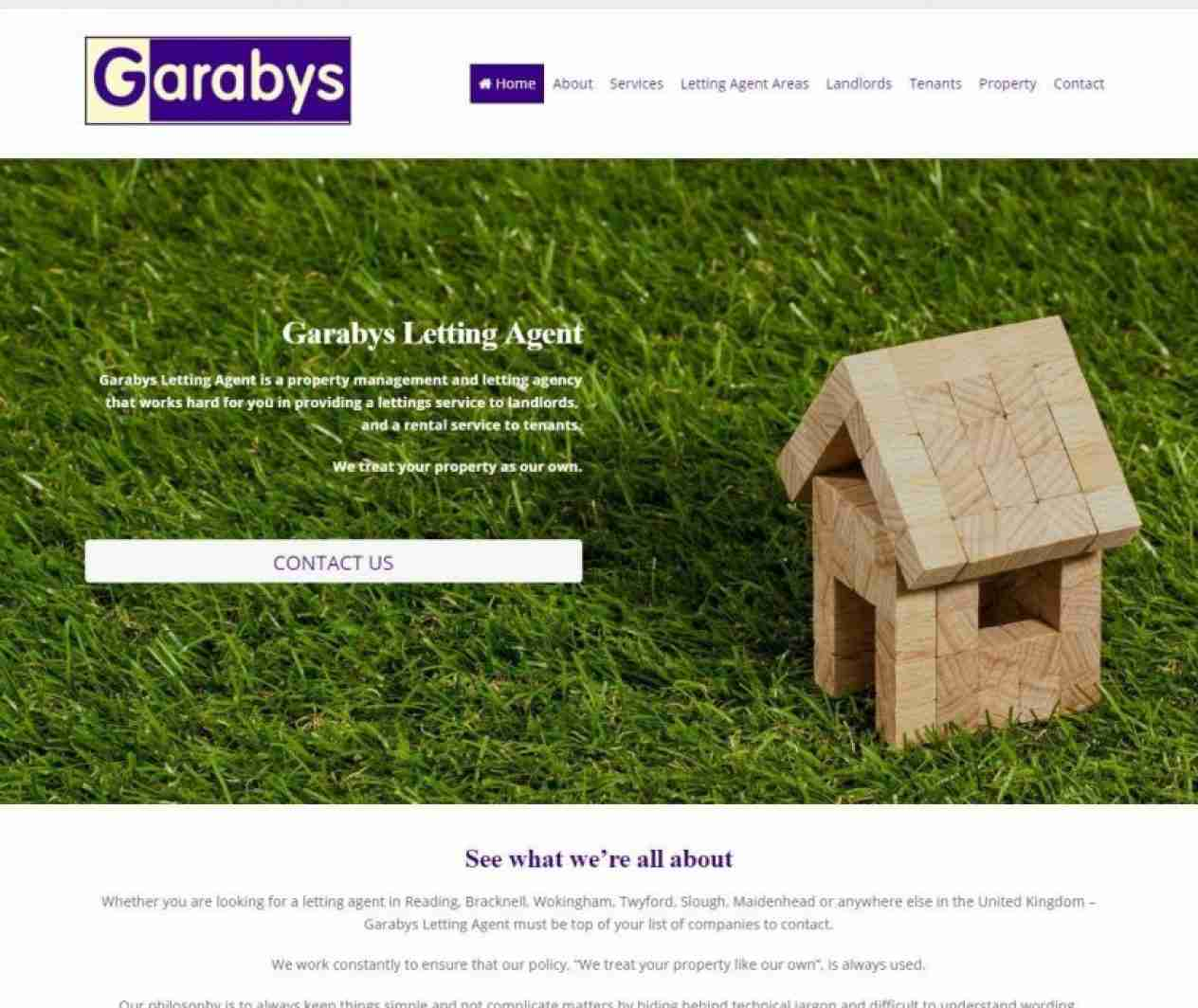 Garabys Letting Agent - screengrab