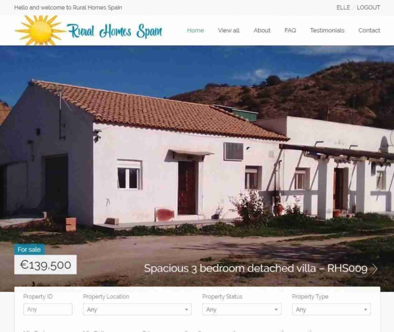 Rural Homes Spain - screengrab