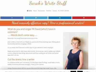 Sarahs Write Stuff - screengrab