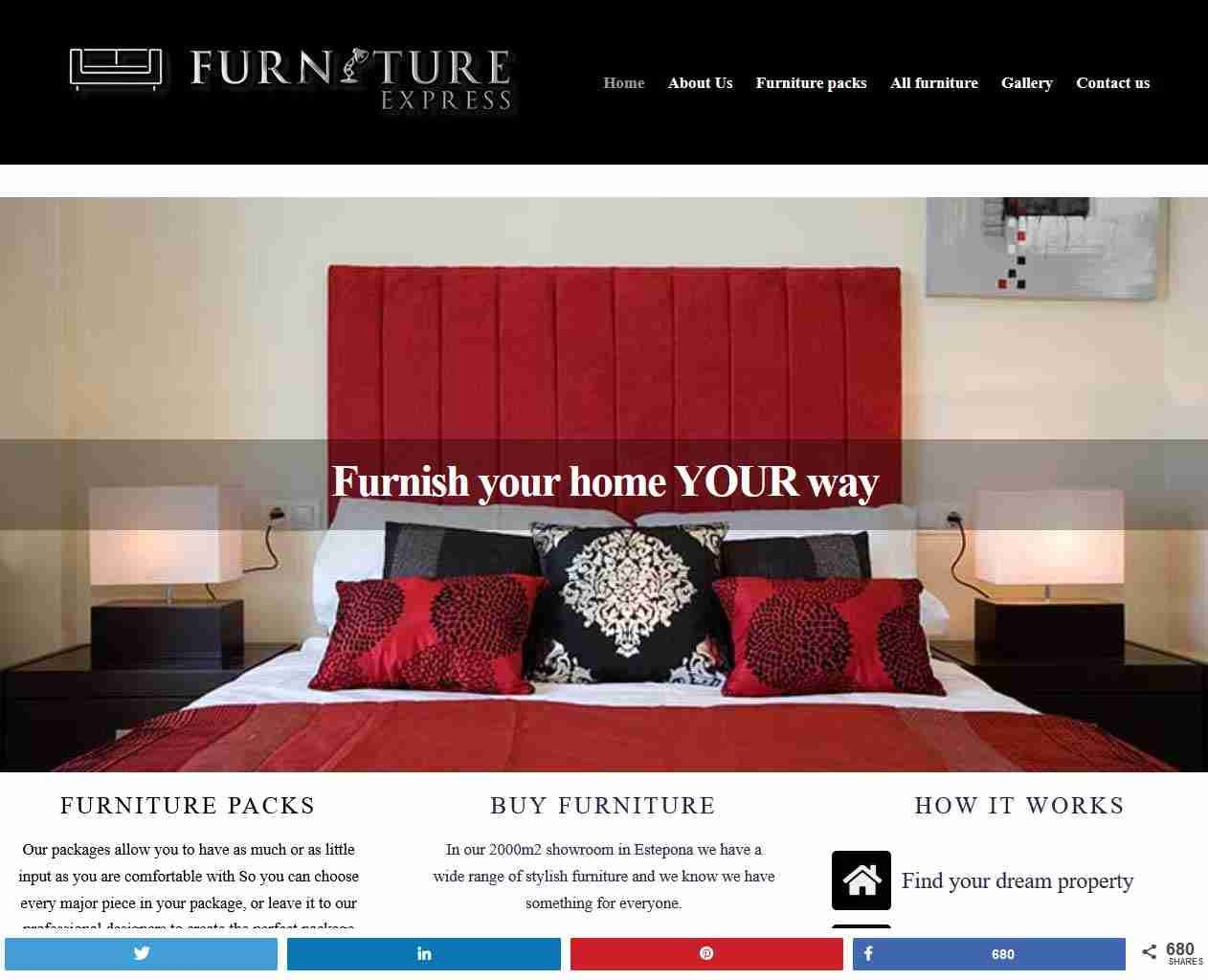 Furniture Express Spain - screengrab