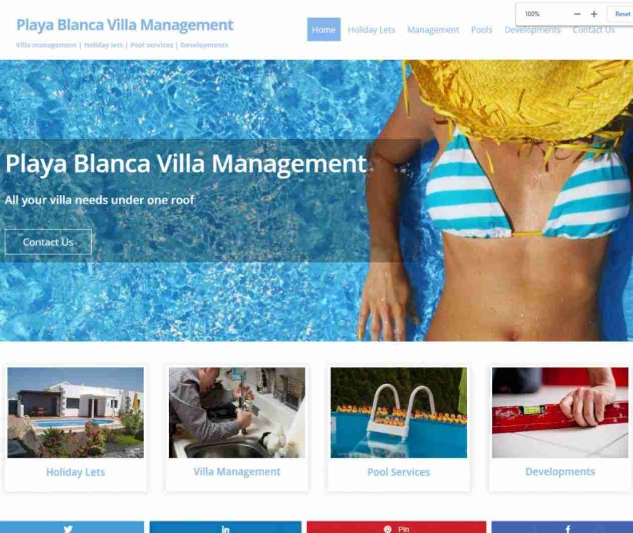 Playa Blanca Villa Management - screengrab