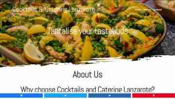 Cocktails and Catering Lanzarote - screengrab