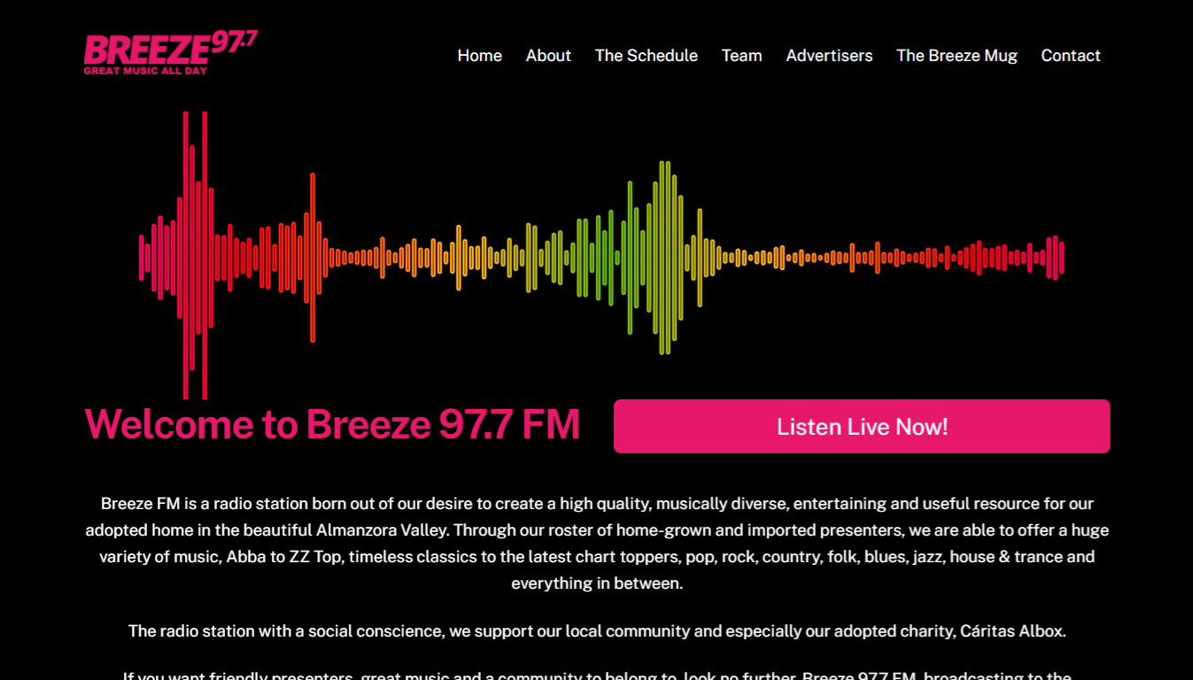 Breeze FM - screengrab
