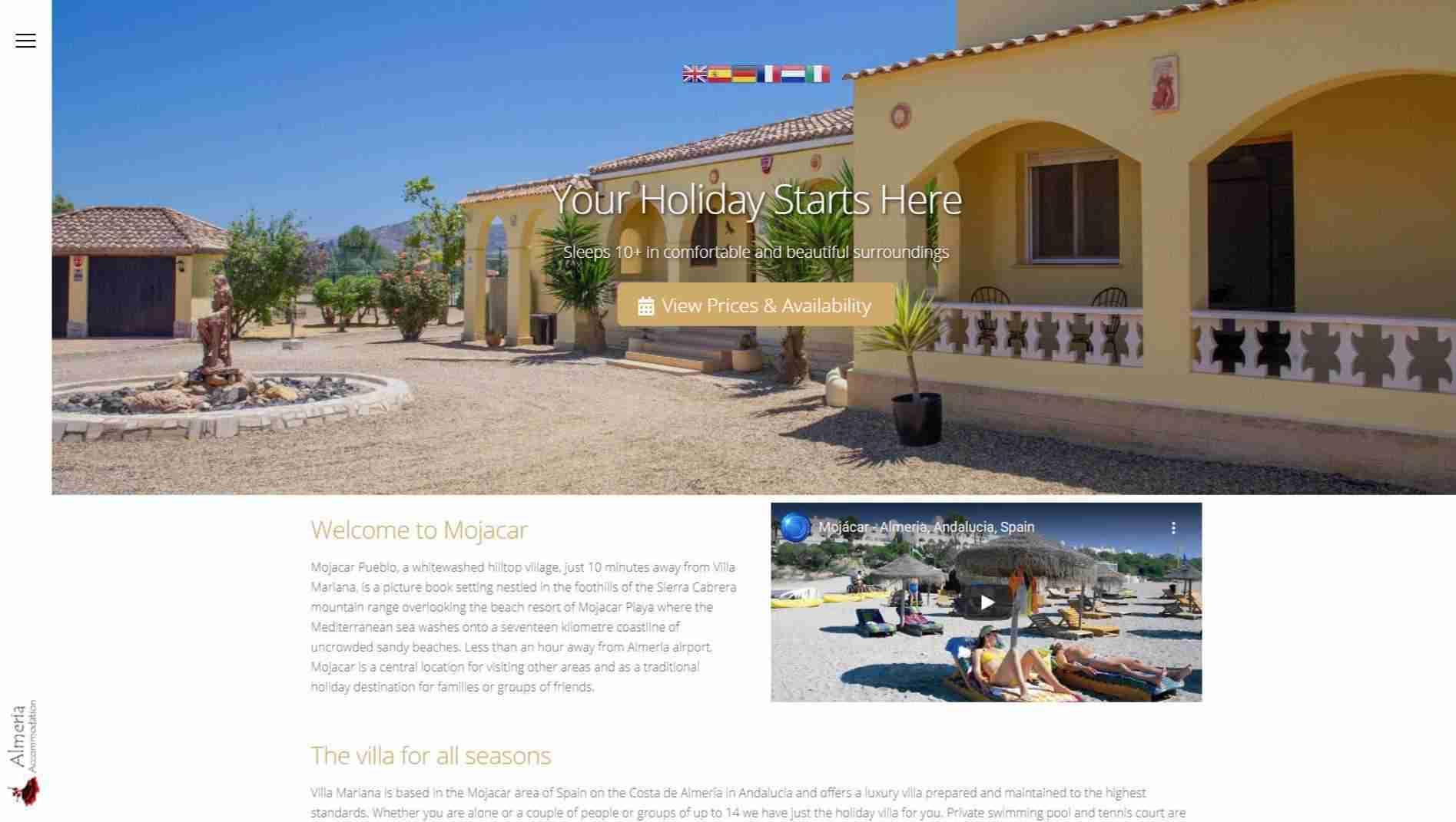 Almeria Accommodation - screengrab